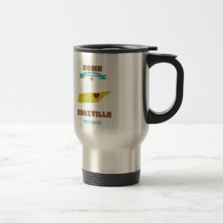 Knoxville, Tennessee Map – Home Is Where Stainless Steel Travel Mug
