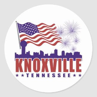 Knoxville Tennessee Patriotic Sticker