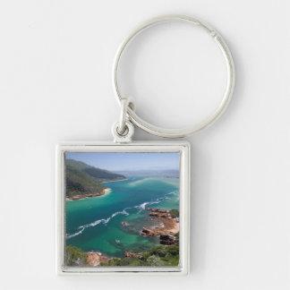 Knysna Lagoon, Garden Route, Western Cape Silver-Colored Square Key Ring