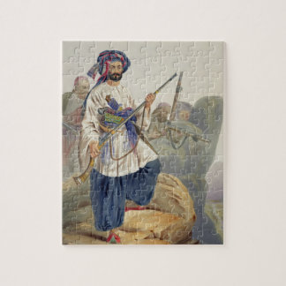 Ko-i-Staun Foot Soldiery in Summer Costume, Active Jigsaw Puzzle