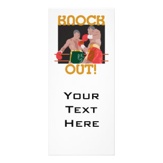 KO knock out boxing vector design Rack Card
