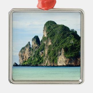 Ko Phi Phi Island on Andaman Sea, Krabi Silver-Colored Square Decoration
