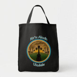 Ko`u Aloah Ukulele Tote Grocery Tote Bag