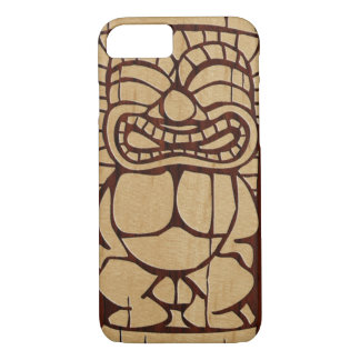 Koa Wood Tiki Ailani Faux Wood Surfboard iPhone 8/7 Case