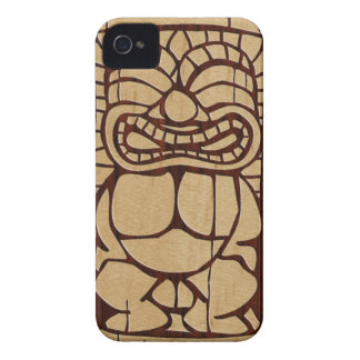 Koa Wood Tiki Ailani Surfboard iPhone 4 Cases