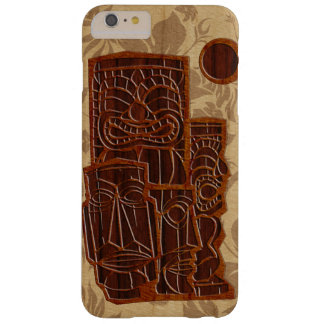 Koa Wood Tiki Sun Surfboard Barely There iPhone 6 Plus Case