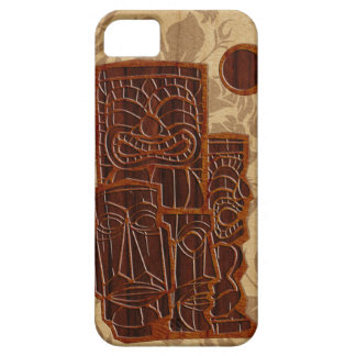 Koa Wood Tiki Sun Surfboard iPhone 5 Cases