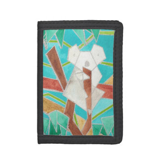 Koala Abstract Watercolor Art Tri-fold Wallets
