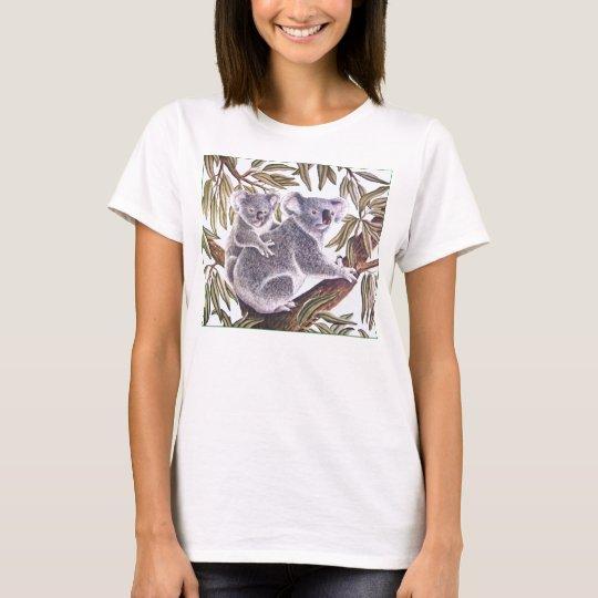 Koala and baby in Eucalyptus Tree T-Shirt