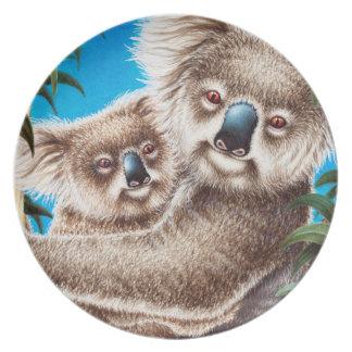 Koala and Baby Plate