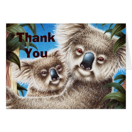 Koala and Baby Thank You Note Card