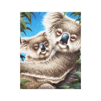 Koala and Baby Wrapped Canvas