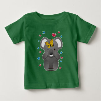 Koala And Butterfly Baby T-Shirt