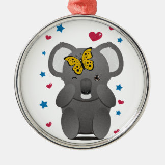 Koala And Butterfly Christmas Ornament