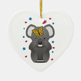 Koala And Butterfly Christmas Ornament