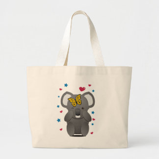 Koala And Butterfly Large Tote Bag