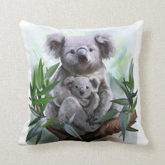 Koala and her baby cushion