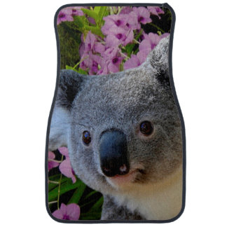 Koala and Orchids Car Mat