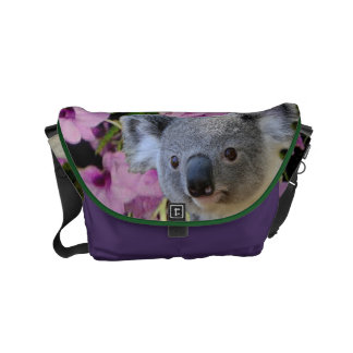 Koala and Orchids Courier Bag