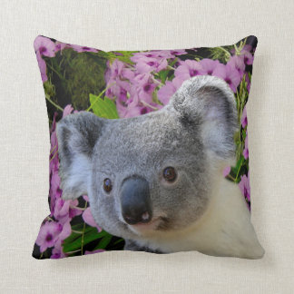 Koala and Orchids Cushion