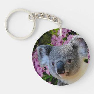 Koala and Orchids Key Ring