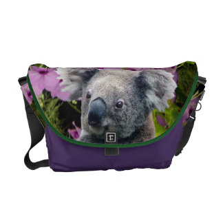 Koala and Orchids Messenger Bags