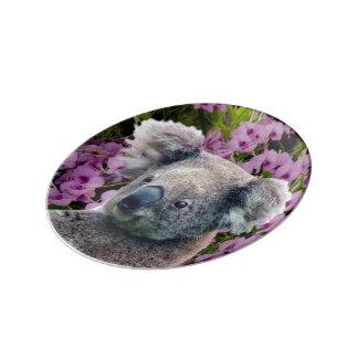 Koala and Orchids Porcelain Plates