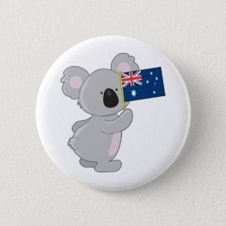 Koala Australian Flag 6 Cm Round Badge