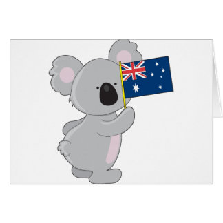 Koala Australian Flag Card