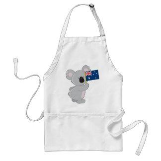 Koala Australian Flag Standard Apron