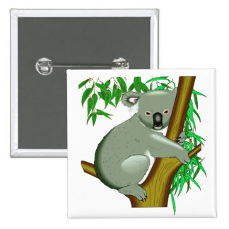 Koala - Australian Tree Living Marsupial Pinback Buttons