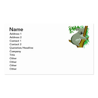 Koala - Australian Tree Living Marsupial Business Card Templates