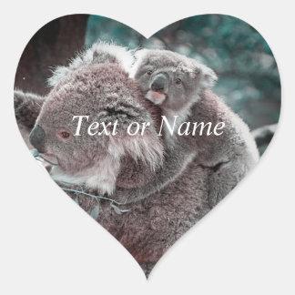 koala baby and mummy heart sticker