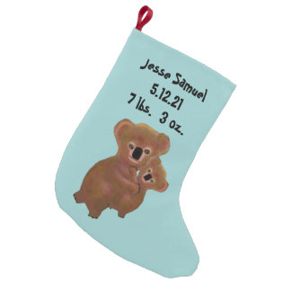 Koala Baby Boy First Christmas Stocking