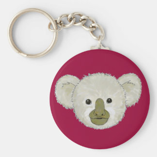 Koala - Baby...Keychain. Basic Round Button Key Ring