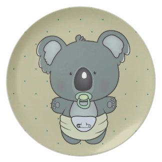 koala baby plate