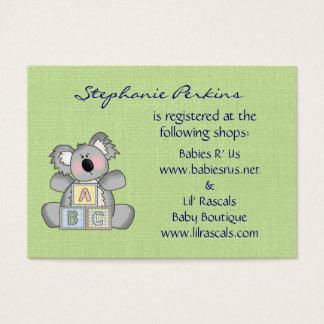 Koala Baby Registry Cards