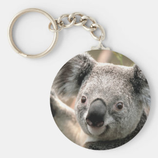 Koala Basic Round Button Key Ring