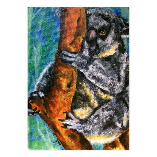 Koala Bear ACEO Art Trading Cards Business Card Templates