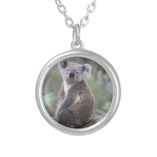 koala bear Aussie outback bush tree forest climb Silver Plated Necklace