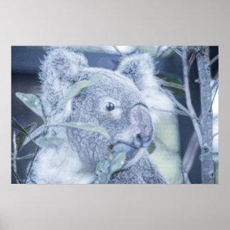 koala bear blue swirly painting.jpg print