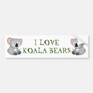 KOALA BEAR BUMPER STICKER