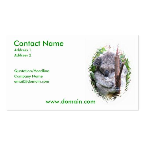 Koala Bear Business Card
