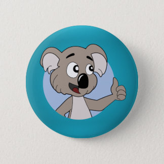 Koala bear cartoon Button