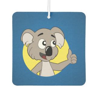 Koala bear cartoon car air freshener