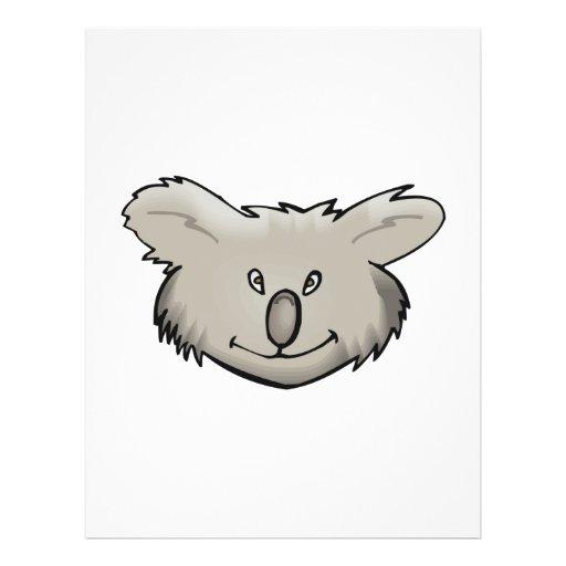 koala bear face design flyer design