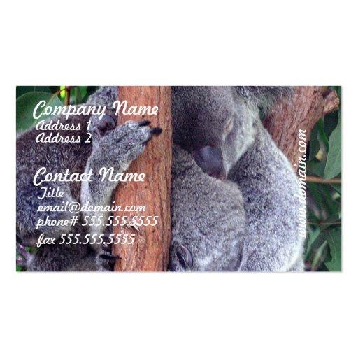 Koala Bear Family Business Cards