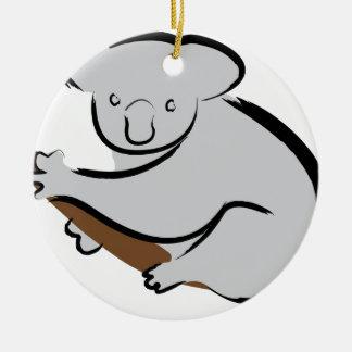 Koala bear in tree christmas ornament