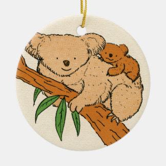 Koala Bear Mama & Baby Christmas Ornament