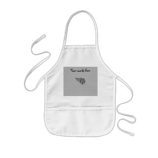 Koala bear on paw pattern kids apron